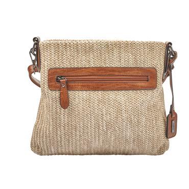 Rieker Crossbody Weave Detail - Beige/tan