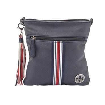 Rieker Small Crossbody Srtipe Detail - Navy