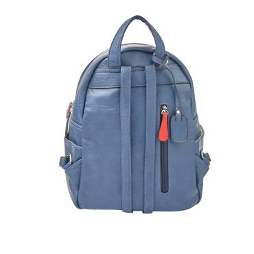 Rieker Backpack Stripe Detail - Navy
