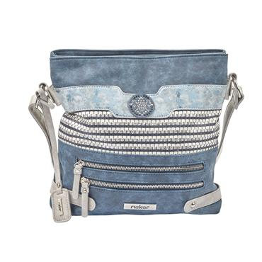 Rieker Crossbody Shimmer Bag - Navy Combi