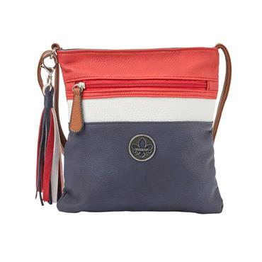 Rieker Small Crossbody Zip Detail - Navy Combi