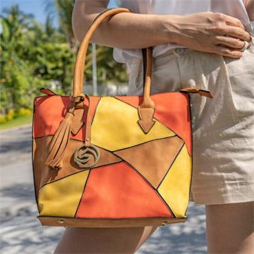 Remonte Tote Bag - Tan Combi