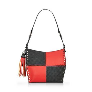 Remonte Crossbody Patch Detail - Black/Red