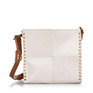 Remonte Crossbody Patch Detail - Silver Shimmer