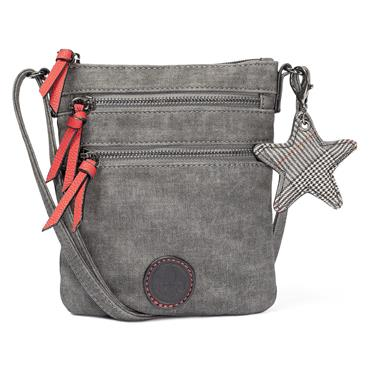 Rieker Small Crossbody Zip Detail - Grey