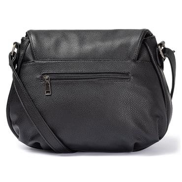 Rieker Crossbody Flap Bag - Black