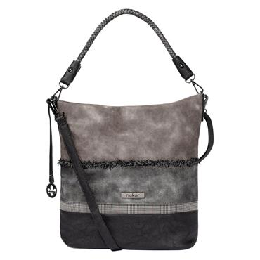 Rieker Shopper Bag Rhinestone Detail - GREY COMBI