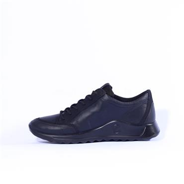 Ecco Women Flexure GoreTex Runner - Black Leather