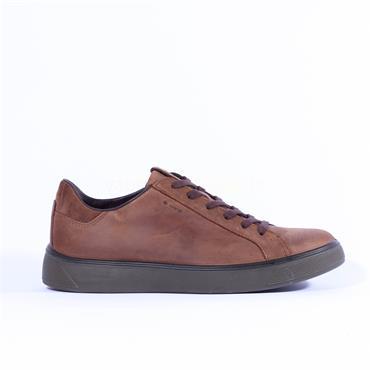 Ecco Men Steet Tray GoreTex Shoe - Brown Leather