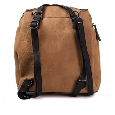 Rieker Backpack - Tan White Black