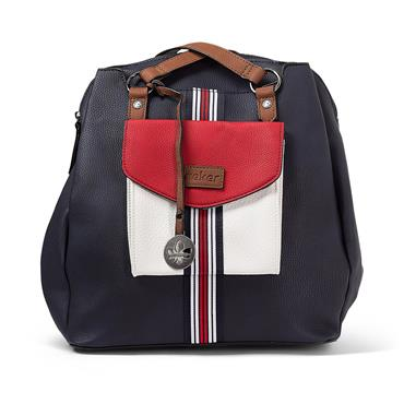 Rieker Backpack - Navy White Red