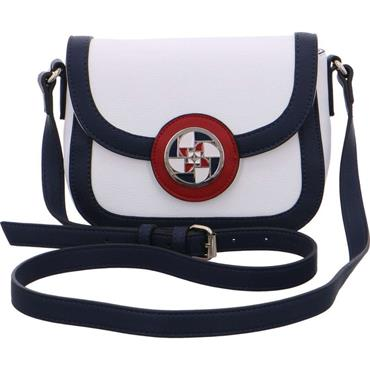 Marleen Crossbody Bag - White Red Navy