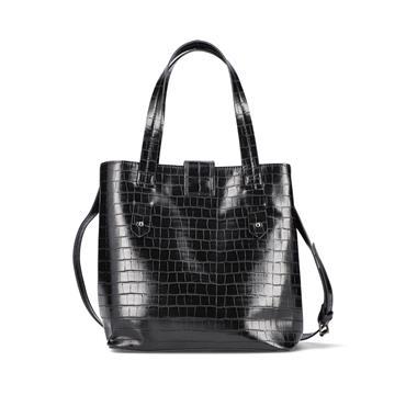 Rieker Top Handle Bag And Shoulder Strap - Black
