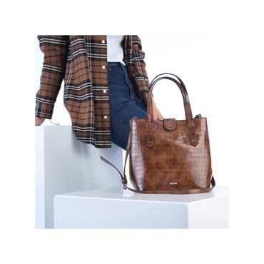 Rieker Top Handle Bag And Shoulder Strap - Chestnut