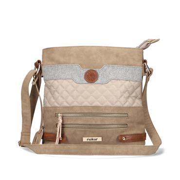Rieker Crossbody Bag - Taupe Combi