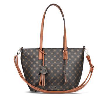Rieker Top Handle Bag And Shoulder Strap - Black Combi