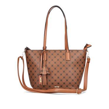 Rieker Top Handle Bag And Shoulder Strap - Tan Combi