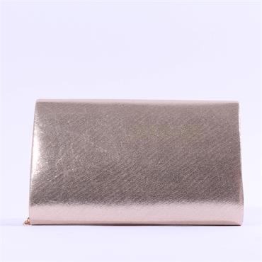 Glamour Susan Diamante Trim Clutch Bag - Gold