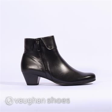 Gabor Folded Cuff Boot Side Zip Royston - Black
