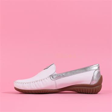 Gabor Mocassin California - White Silver