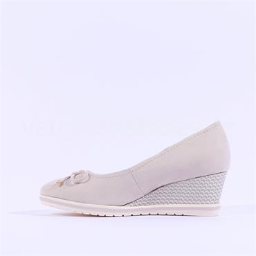 Tamaris Bune Bow Tie Wedge - Ivory