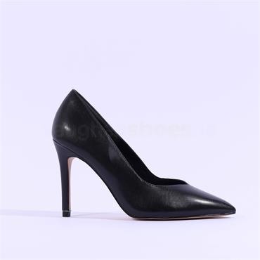 Tamaris Idony Pointed Toe High Heel - Black Leather