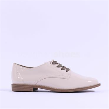 Tamaris Yanike Lace Up Brogue - Cream