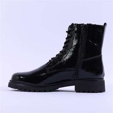 Tamaris Soul Laced Patent Boot - Black Patent