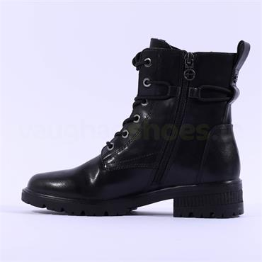 TAMARIS Zeya Laced Military Boot - Black