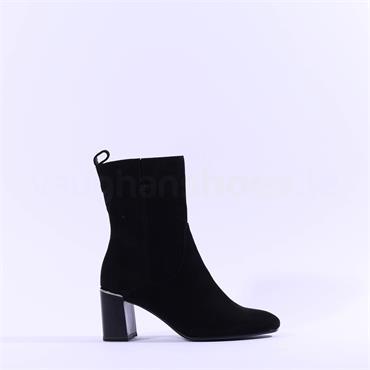 Tamaris Solo Block Heel Hi Ankle Boot - Black