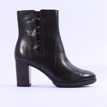 Tamaris Eleni High Block Heel Ankle Boot - Mocha