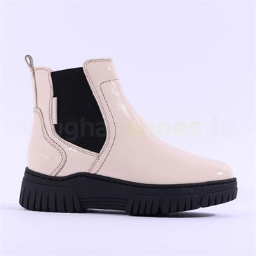 Tamaris Alessya Platform Guesst Boot - Cream Patent