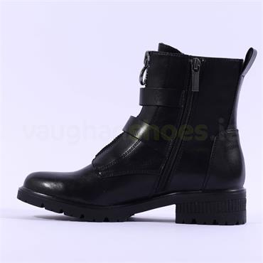 Tamaris Zeya Strap Buckle Biker Boot - Black