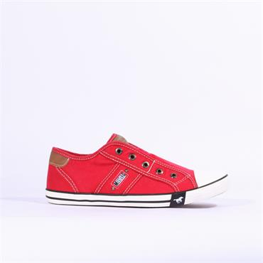 Mustang Slip On Canvas Shoe - Red