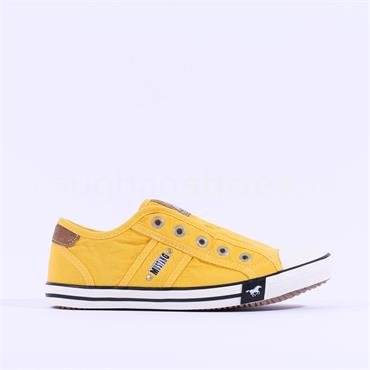 Mustang Slip On Canvas Shoe - Yellow