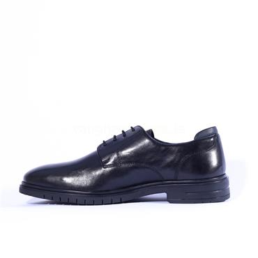 Ara Men Henry Laced Shoe - Black Leather