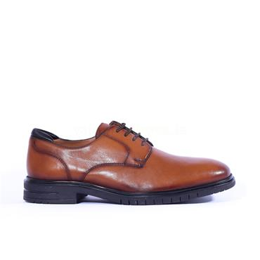 Ara Men Henry Laced Shoe - Tan Leather