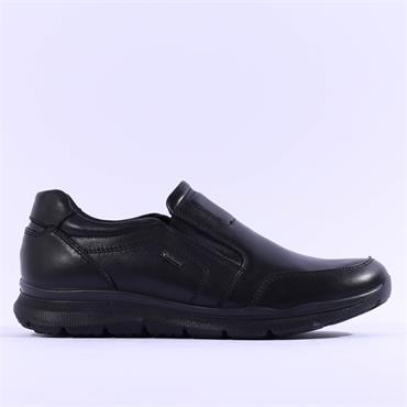 Ara Men Benjo GoreTex Slip On Shoe - Black Leather