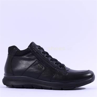 Ara Men Benjo GoreTex Side Zip Boot - Black Leather