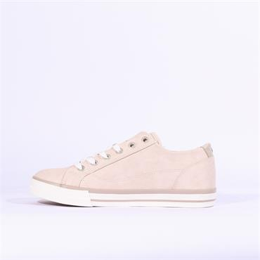 Mustang Laced Casual Trainer Side Zip - Rose