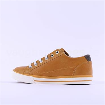 Mustang Laced Casual Trainer Side Zip - Yellow