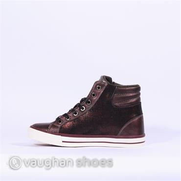 Mustang Side Zip Boot With Star Detail - Bordo