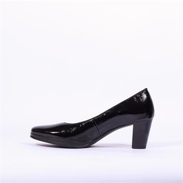 Ara Orly Court Shoe - Black Patent