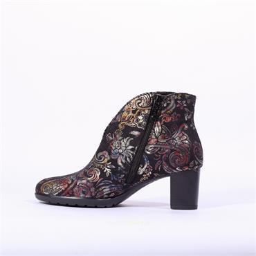 Ara Orly V Cut Block Heel Boot - Multi Print