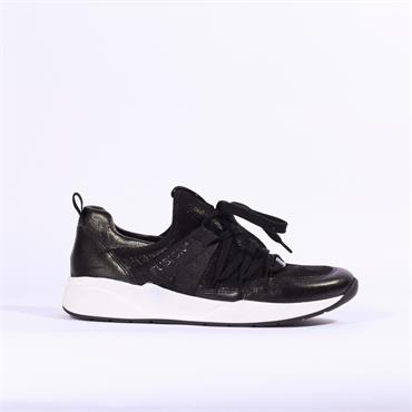 Ara LA Fusion Lace Up Casual Trainer - Black