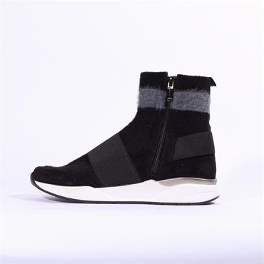 Ara LA Fusion Hi Top Trainer - Black Combi