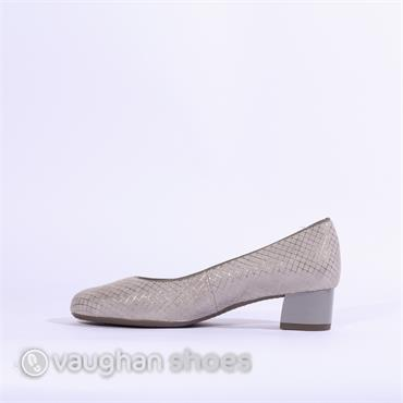 Ara Icenza Court Shoe Print Detail - Grey