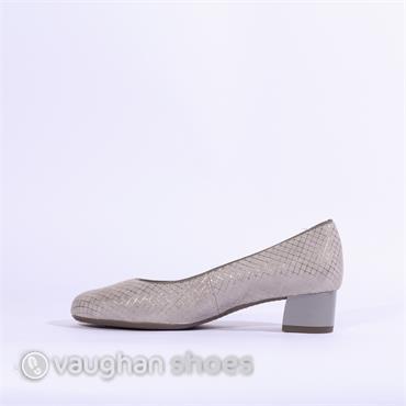 Ara Icenza Court Shoe Print Detail - Grey