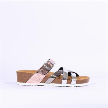 Ara Bali Strappy Sandal - Bronze Metallic Combi
