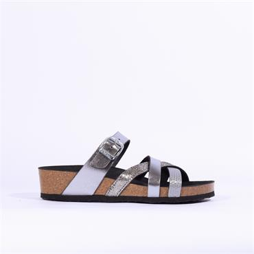 Ara Bali Strappy Sandal - Metallic Grey